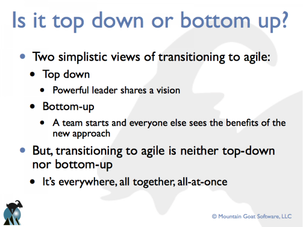 Transitioning to Agile