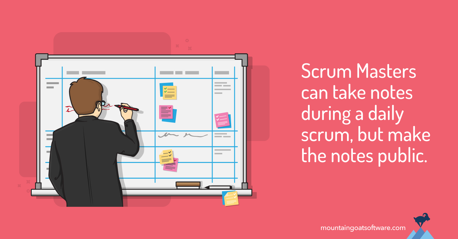 Avoid Taking Notes During the Daily Scrum