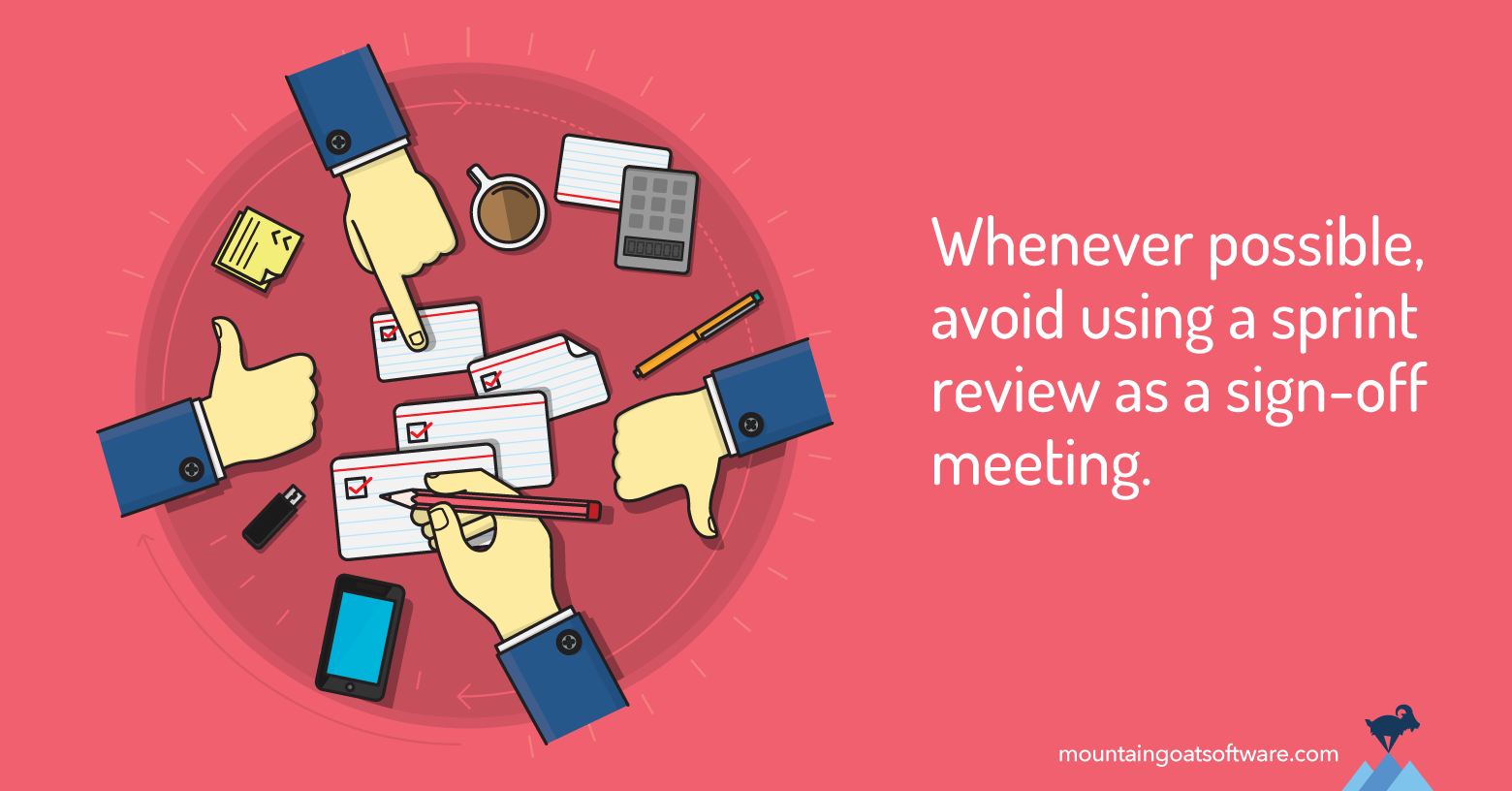 The Sprint Review as a Sign-Off Meeting