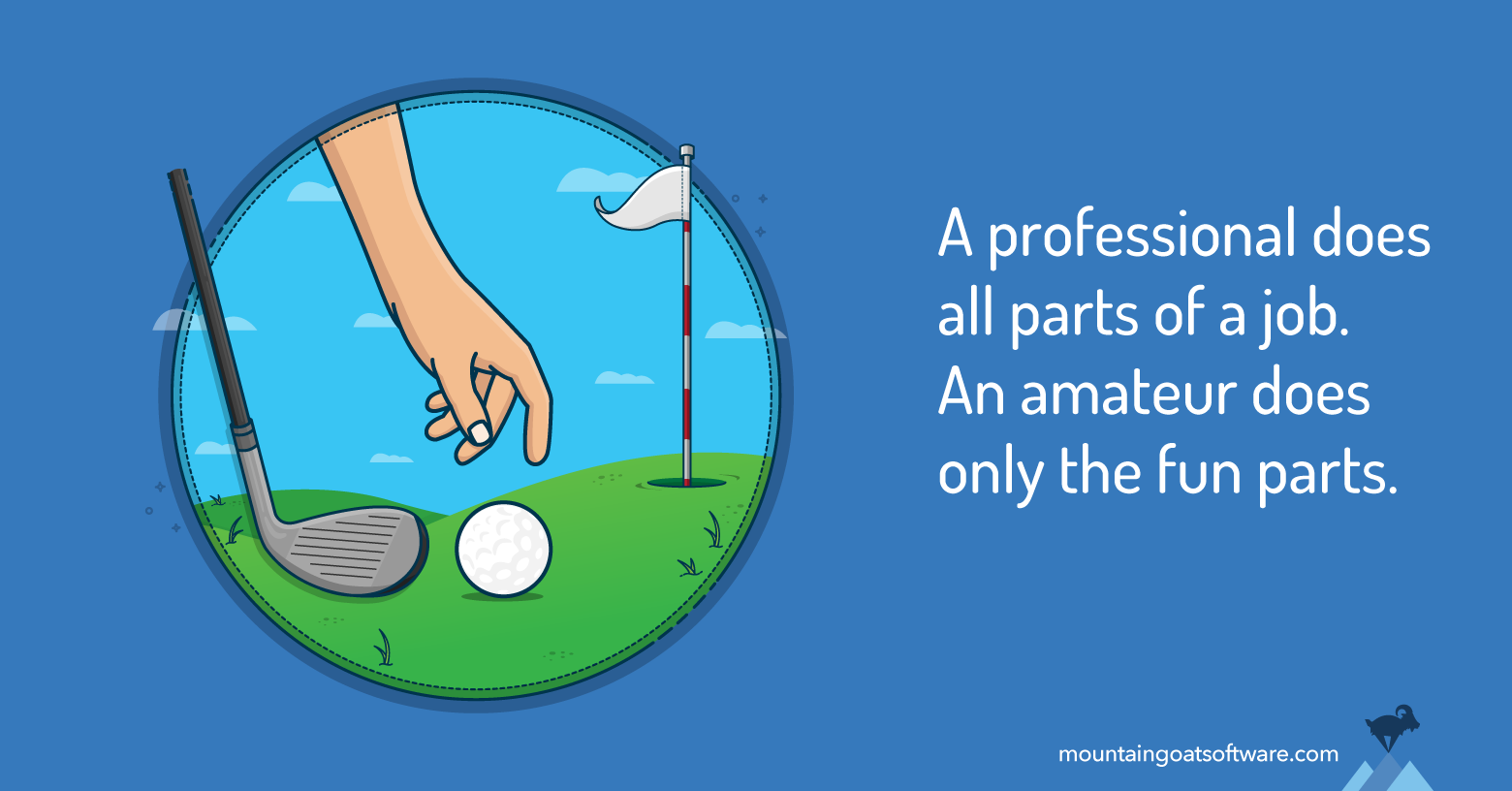 The Difference Between a Professional and an Amateur