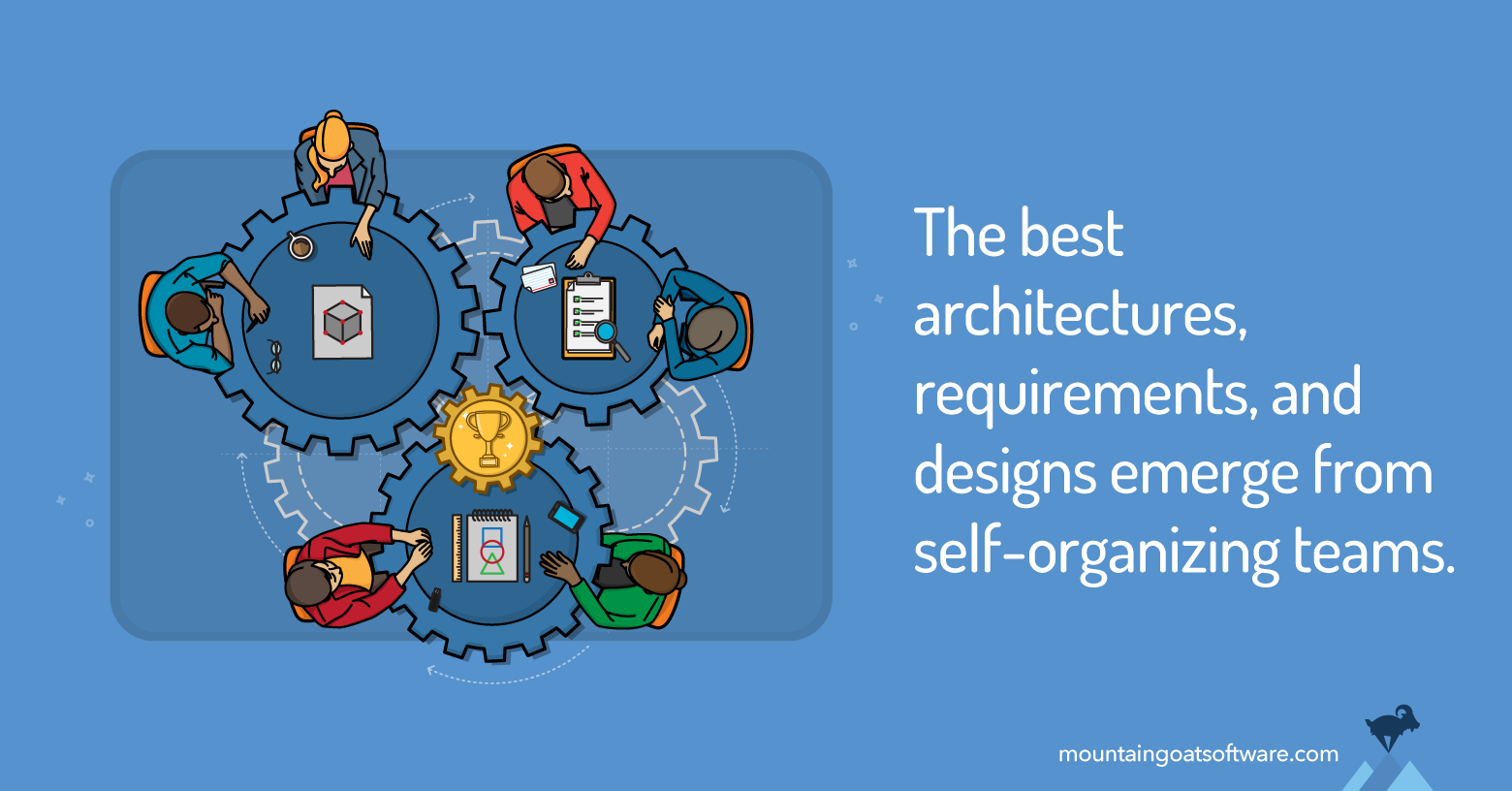 Self-Organizing Teams Are Not Put Together Randomly