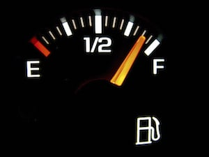 Gas Gauge at Almost Full