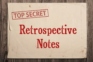 Envelope Saying Top Secret Retrospective Notes