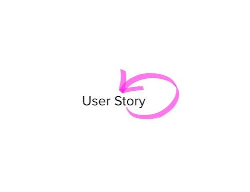 User Story with a Circular Pink Error