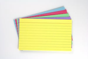 Stack of Multi-Colored Index Cards